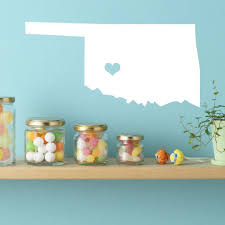 Oklahoma State Vinyl Wall Decal Map Silhouette Decoration Customvinyldecor Com