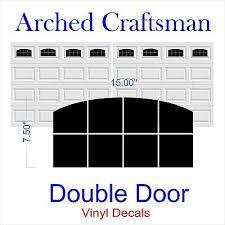 Garage Door Vinyl Window Decals Arched Craftsman Double Door Faux Windows Ebay