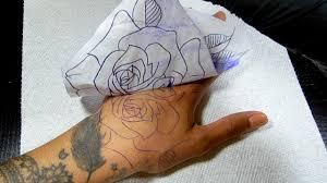 how to apply tattoo stencil onto skin