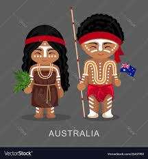 australian aborigines in national dress