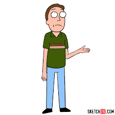 How to draw Jerry Smith, Morty's father - Step by step drawing ...