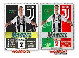 Invitacion Digital Personalizada Cristiano Ronaldo Cr7 1 500 En Mercado Libre