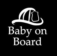 Fireman Baby On Board Car Window Decal Fireman Parents Car Etsy