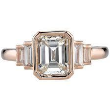 Diamond Rings : Preowned Art Deco 1.53 Carat Emerald Cut Diamond ...