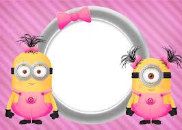 Minion Girls Free Printable Invitations Minions Nena