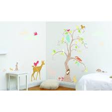 Funtosee Wall Decal Nursery Decor Kit Woodland Tree Walmart Com Walmart Com