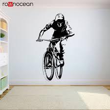 Cycling Sticker Vinyl Decal Bicycle Mountain Bike Bmx Cyclist Car Window Bumper