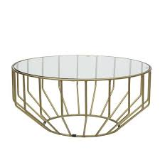 the glass round coffee table represents