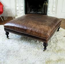large square leather ottoman double