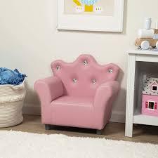 Amazon Com Melissa Doug Child S Crown Armchair Pink Faux Leather Toys Games