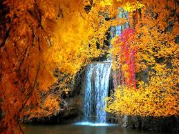 Waterfall in Autumn | Autumn scenery, Fall pictures, Autumn waterfalls