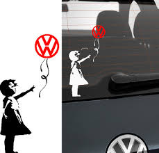 6 Vw Banksy Girl Dub T5 T4 Transporter Car Window Sticker Choice Of Colours Car Exterior Styling Badges Decals Emblems Vehicle Parts Accessories