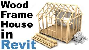 wood frame house in revit tutorial