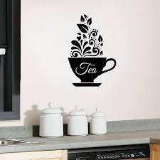 Love Tea Cup Kitchen Wal Sticker Vinyl Decal Art Restaurant Decor Coffee Art Decals Decor Art Cardboard Decorative Symbols Clip Artdecorative Word Art Aliexpress