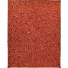 rust color area rug com