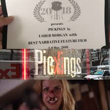 """Usher Morgan on Twitter: """"Awesome! @pickingsfilm just won """"Best Narrative  Feature Film"""" at the #greenpointfilmfestival 🙏🙏 we're coming to #VOD in  August folks, #itunes #preorders go live this week. #film #films  #filmmaking #"""