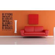 Shop Be Strong Brave And Humble Quote Wall Art Sticker Decal Overstock 11524251