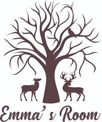 Tree Forest Animals Bird Deer Wall Decal Custom Vinyl Wall Art Personalized Name Baby Girls Boys Kids Nursery Daycare Bedroom Wall Decal Room Decor Wall Stickers Decoration Size 30x15