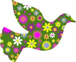 Pomba da paz floral | Vectores de Domínio Público