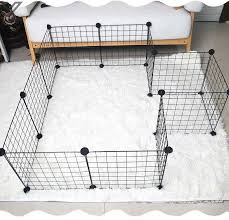 Diy Panel Pet Cage Fence Dogs Rabbits Cats Guinea Pig Small Pets Iron Metal Grids Storage