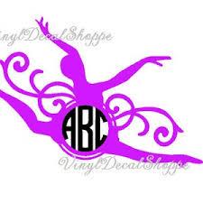 Custom Ballerina Monogram Car Decal Monogram Sticker Apple Etsy
