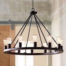 light wagon wheel chandelier