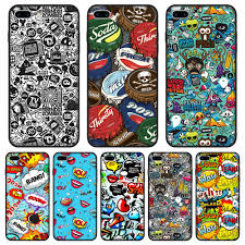 Anime Graffiti Sticker Bomb Phone Case Silicone For Iphone 6 S 6s 7 8 X Xr Xs Max Soft Back Cover For Iphone 6 S 6s 7 8 Plus Fitted Cases Aliexpress