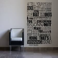 Large Rocky Balboa Mural Inspirational Wall Sticker Quote Boxing Gym Vinyl Decal Home Furniture Diy Diy Ma Wall Stickers Quotes Wall Sticker Vinyl Decals