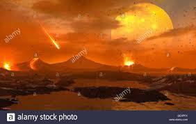 Una animación de la Tierra primitiva en el proceso de formación ...