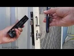 change security door lock