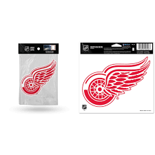 Detroit Red Wings Official Nhl Car Window Cling Decal And Car Window Cling Decal Bundle 2 Items Walmart Com Walmart Com