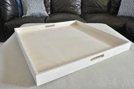 raw square extra large ottoman tray