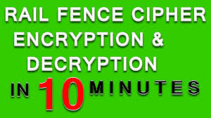 Rail Fence Cipher Rail Fence Cipher Encryption And Decryption Rail Fence Cipher Example Solved Youtube