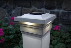 5x5 Solar Deck Post Cap Lights White Classy Caps Majestic Set Of 2 Solar Post Caps Fence Post Caps Deck Post Caps
