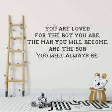 You Are Loved Inspirational Quote Vinyl Wall Decal Quote For Boy Bedroom Customvinyldecor Com