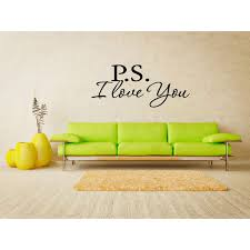 Shop Ps I Love You Wall Art Sticker Decal Overstock 11521996