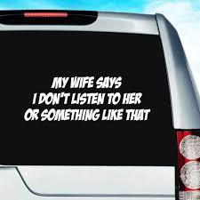 Car Truck Graphics Decals Proud Navy Vet S Wife Vinyl Decal Car Window Sticker Veteran I Love My Husband Motors