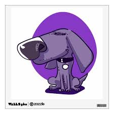Big Nose Funny Dog Cartoon Wall Sticker Zazzle Com