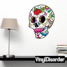 Sugar Skull Wall Decal Vinyl Car Sticker Uscolor026 25 Inches Walmart Com Walmart Com