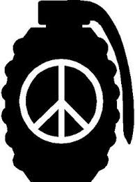 Grenade Peace Sign Vinyl Decal Sticker