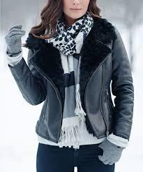 faux furs black faux fur lined jacket