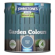 Buy Johnstone S Garden Paint 2 5l Island Lake Shed And Fence Paint Argos