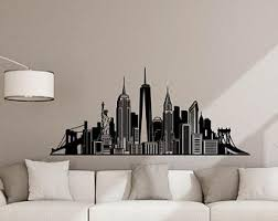 New York Wall Decal Etsy