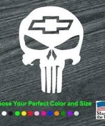 Chevy Chevrolet Punisher Skull Window Decal Sticker Sticker Flare Llc