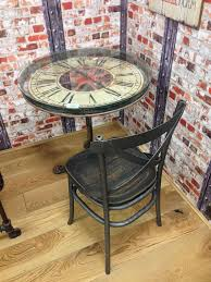 clock vintage retro table dining tables