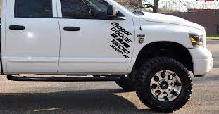 Custom Side Door Decal Graphic Sticker Kit For Dodge Ram 1500 Srt 10 Hemi