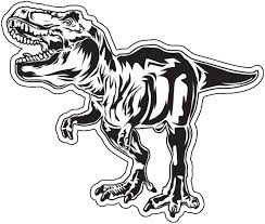 Amazon Com Wickedgoodz T Rex Decal Dinosaur Bumper Sticker Perfect For Laptops Tumblers Windows Cars Trucks Walls Automotive