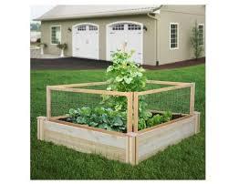 Raised Garden Bed W Critter Guard Fence Cedar Vegetable Herb Plant Box New Cedar Raised Garden Raised Garden Garden Fence Panels