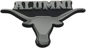 Amazon Com The University Of Texas Longhorns Metal Auto Emblem Alumni Arts Crafts Sewing