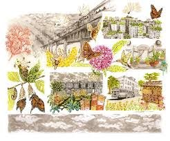 Urban Pollinators Drawing by Aaron Birk | Saatchi Art